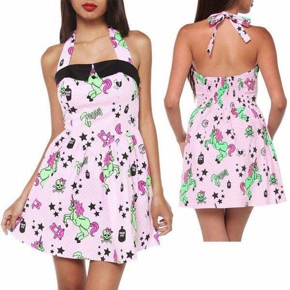 83eba85dfe0d6 Hell Bunny Dresses & Skirts - Hell Bunny Zombie unicorn dress